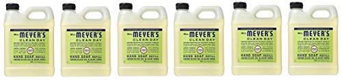 Mrs Meyers Liquid Hand Soap, Refill, Lemon Verbena Scent (Pack of 6) ()