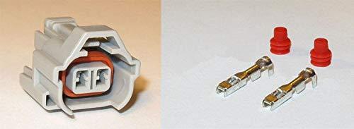 Davitu 10/20/50/100pcs/lot 2 Pin/Way Fuel Injector Connector Plug For Sard Tomei Helix 1JZ 2JZ Toyota 6189-0060 - (Color Name: 10pcs)