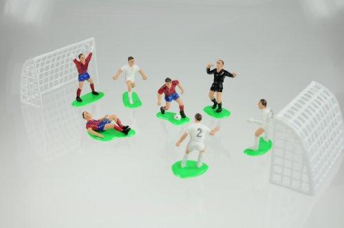 Fußball Set für Thementorten - Spieler, Schiedsrichter, Tore und Zubehör