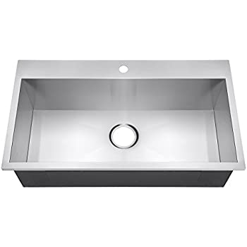 golden vantage 30 x 18 x 875 18 gauge handmade stainless steel topmount drop in single basin kitchen sink. beautiful ideas. Home Design Ideas