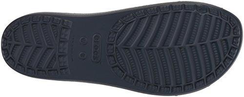 Crocs Womens Drew Barrymore Sloane Cross-Strap Slide Navy/White LW2MCFfcl