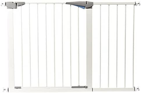 LEMKA Walk Thru Baby Gate,Auto-Close Safety Pet Gate Metal Expandable Dog Gate with Pressure Mount for Stairs,Doorways,Banister (47