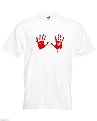 De Sang Blanc Mains Dead Vampire shirt Hasard Main Avec Drôle Modèle Décalque Cadeau T Hommes Au Sanglant Gratuit Chemise Walking Chemises Rouge BSv0n1wqg