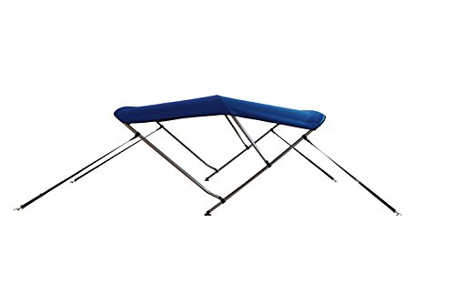 Komo Covers Boat Bimini Top Cover, 46 inches High by 6 feet Long by 73 to 78 inches Wide with Boot and Hardware (Blue)