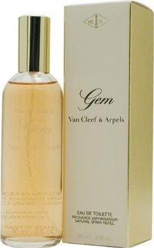 Gem by Van Cleef and Arpels Eau de Toilette 3 oz Spray Rechargeable Refillable Cologne for Women