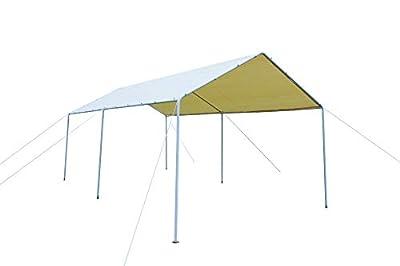 GOJOOASIS Carport Frame Tent Party Tent Heavy Duty Portable Car Garage Tent Outdoor Gazebo (10' x 20')