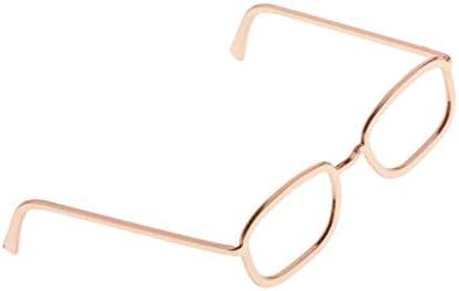 Hellery 金属製 人形メガネ 眼鏡 サングラス ドール飾り 12インチアクションフィギュアのため おしゃれ 全3選択 - ローズゴールド