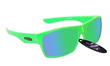 RayZor Professional leichte UV400White Sports Wrap Ski Snowboard Sonnenbrille, mit einem grünen Iridium verspiegelt Blendfreie Objektiv
