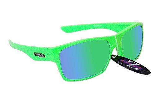 RayZor Professional Lunettes de soleil UV400Vert de Sport, ultra léger avec un vert iridium Miroir anti-reflet Objectif