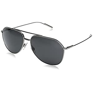 Dolce & Gabbana Men's Metal Man Aviator Sunglasses, Gunmetal, 61 mm