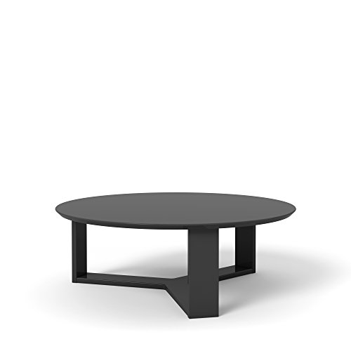 Manhattan Comfort Madison 1.0 Coffee Table Collection Round Living Room Coffee Table Accent Table, 35