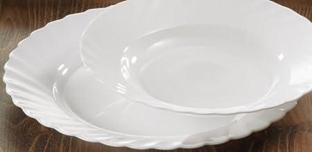 Luminarc White 28cm Trianon Large Dinner Plate & Luminarc White 28cm Trianon Large Dinner Plate: Amazon.co.uk ...