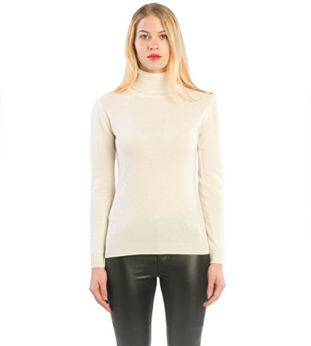 White Cashmere Sweaters (cashmere 4 U 100% Cashmere Turtleneck Sweater Pullover For Women)