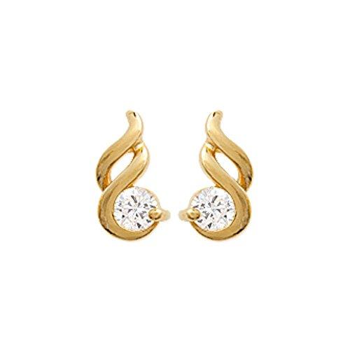 ISADY - Nora Gold - Boucles d'oreille - Plaqué or jaune 18K - Clous d'oreille - Oxyde de zirconium