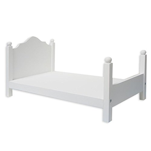 FibreCraft - Springfield Wood Doll Bed - Fits Dolls Up to 18 ()