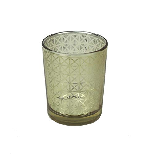 MEANIT Gold Votive Candle Holders, Silver Candle Holders, Candle Holder For Small Candles, Candle Stand