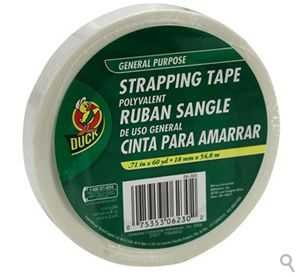 Bulk General Purpose Strapping Tape Duck Brand.71 x 60yd, 3