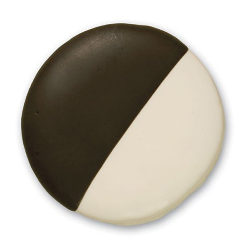Hand Decorated Sugar Cookies - Decorated Sugar Cookies - Black and White Cookie - by Merlino Baking (Pack of 12)