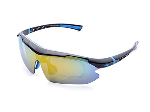 Better For Wood Polarized Sport Sunglasses With 3 Interchangeable Lens,Sunglasses For Cycling, Driving, Running ,Golf,Night Vision - For Baseball Glasses Prescription