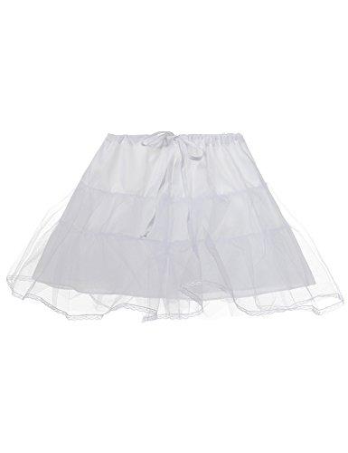 Remedios Kids White 3 Layers Wedding Flower Girl Petticoat/Underskirt/Crinoline