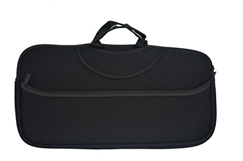 Wanty Black Color Soft Neoprene Sleeve Carrying Travel Case for Canon PIXMA iP110 and PIXMA iP100 / HP OfficeJet 100 / 150 / H470/Epson WorkForce WF-100/Mobile Photo Pinter and Power Adapter & Cable by Wanty
