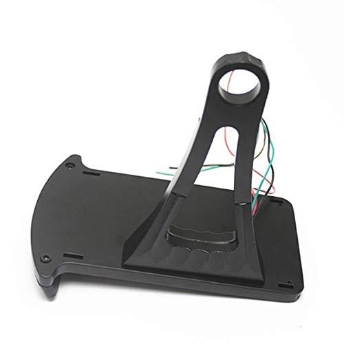 Cikuso Plaque DImmatriculation Modifi/ée De Moto Plaque DImmatriculation Verticale De 12 V avec Lampe LED Support De Plaque DImmatriculation Adapt/ée /à Harley XL883