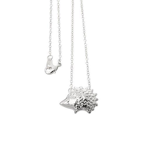 Hedgehog Pendant Necklace Cute Animal jJewelry for Girls (Mens Hedgehog)