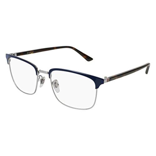 Eyeglasses Gucci GG 0130 O- 006 BLUE / AVANA