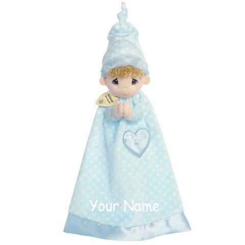Personalized Prayer Boy Luvster Baby Plush Snuggle Blanket Gift (Aurora Fleece)