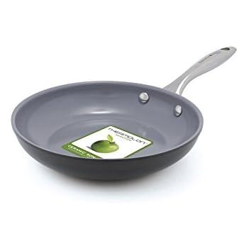 GreenPan Lima 3D I Love Eggs & Pancakes 8 Inch Hard Anodized Non-Stick Dishwasher Safe Ceramic Fry Pan