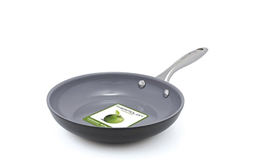 GreenPan Lima 3D I Love Eggs & Pancakes 8 Inch Hard Anodized Non-Stick Dishwasher Safe Ceramic Fry Pan