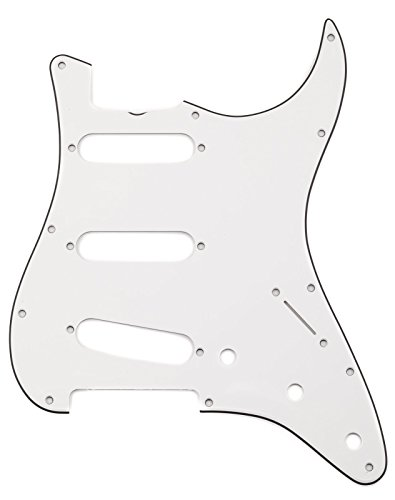 Fender Pure Vintage Pickguard, '65 Stratocaster with Truss Rod Notch, 11-Hole - Eggshell 3-Ply - Vintage Truss Rod