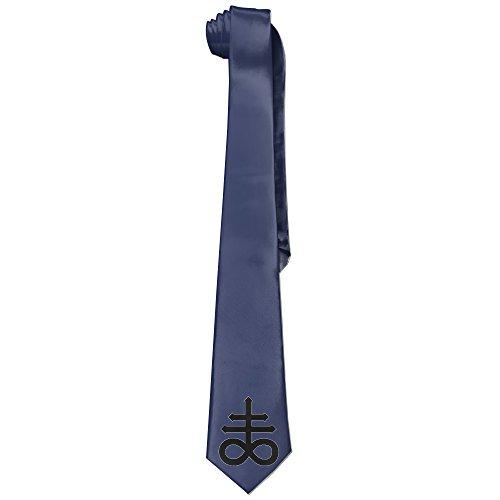 Ggift Leviathan Cross Mens Fashion Business Solid Necktie (Baphomet Horns Costume)