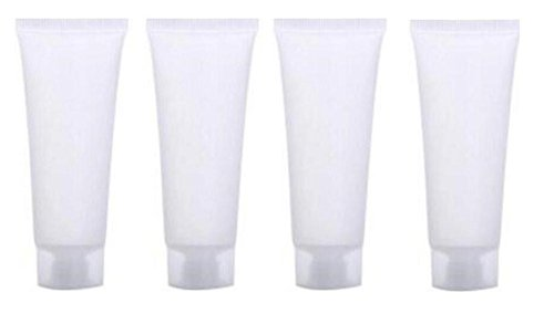 4PCS 10ML White PE Plastic Empty Screw Cap Soft Squeeze Tubes Bottle With Screw Cap Balm Container For Hand Cream Lotion Shampoo Cleanser Shower Gel Body Lotion For Make Up - Cleanser Tube