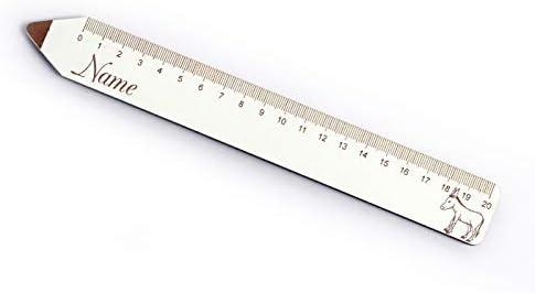 Lineaal ezel met persoonlijke naampenvorm 20 cm