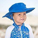2pk Kids Safari Hat Sun Protective Zone UPF 50+ Child Block UV Rays Shade 938151 Blue (Safari Hats Kids)