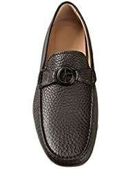 GIORGIO ARMANI Leather Loafers Brown