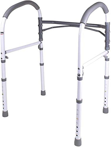 Carex Toilet Safety Rails – Toilet Handles for Elderly and Handicap – Home Health Care Equipment Toilet Safety Frame 31aAyJ4emtL