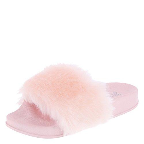 Price comparison product image Brash Girl's Pink As-If Furry Slide Little Kid Size 3 Regular