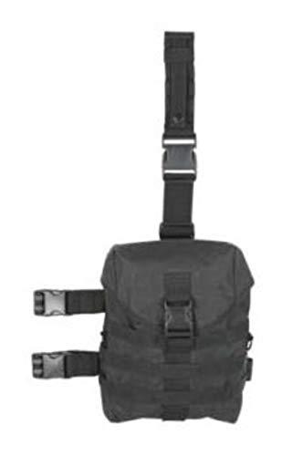 VooDoo Tactical 15-8179001000 Drop Leg Gas Mask Hip Platform, Black