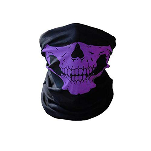 3PCS Sport Ski Cycling Face Mask Outdoor Helmet Neck Bike Face Mask Thermal Scarf Halloween Headband Scarves YXMJ01,Purple,One -