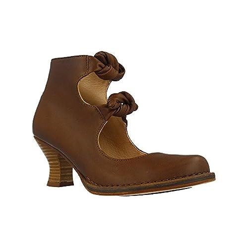 Zapatos marrones de punta abierta formales Kickers para mujer rxpaYPTb0q