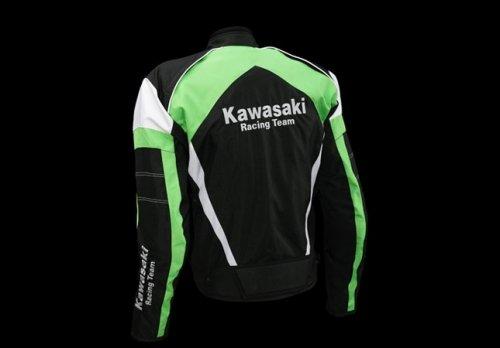 Kawasaki Racing Team Sports textil Chaqueta verde. Moto ...
