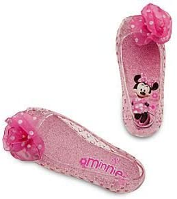 Disney Store Pink Minnie Mouse Light Up Shoes Costume Slippers Size 9/10