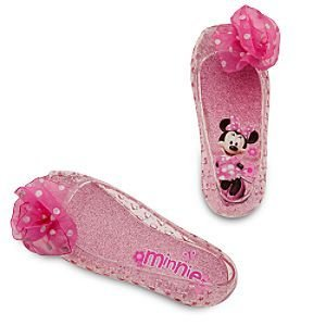 Disney Store Pink Minnie Mouse Light Up Shoes Costume Slippers Size 9/10 -