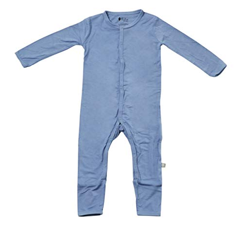 Kyte BABY Rompers - Baby Footless Coveralls Made of Soft Organic Bamboo Rayon Material - 0-24 Months (6-12 Months, Slate)