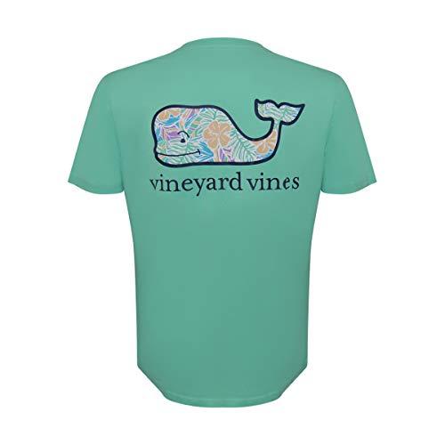 Vineyard Vines Men's Short Sleeve Graphic Pocket T-Shirt (Floral Antigua, L)
