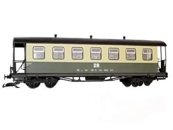 Train Coche de viajeros, Techo de barril, beige verde, DR, Escala, Juegos de ruedas de acero inoxidable, para LGB: Amazon.es: Juguetes y juegos