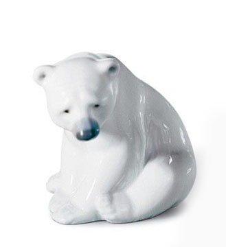 (Lladro #1209, Seated Polar Bear)