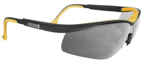(Dewalt DPG55-6C Dual Comfort Silver Mirror High Performance Protective Safety Glasses with Dual-Injected Rubber Frame and Temples)